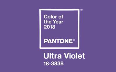 Pantone ® anuncia a cor Ultra Violet como a cor de 2018.