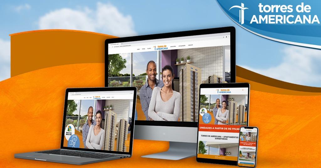 Campanha de marketing digital e publicidade para o empreendimento Torres de Americana