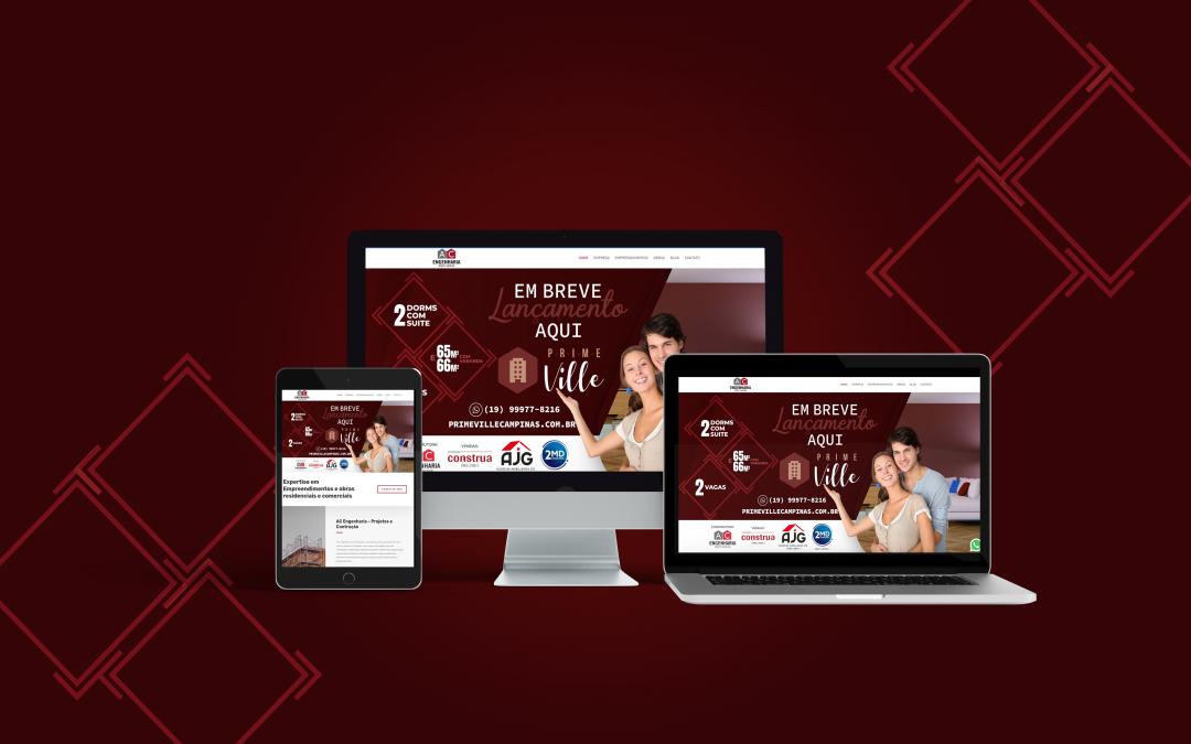 Criação de Website em Campinas para AC Engenharia