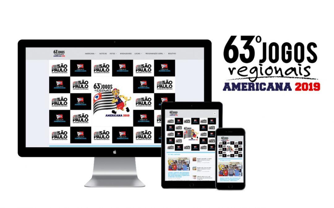 Solomo cria site do 63º Jogos Regionais – Americana SP
