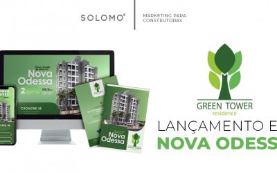 Marketing digital para o empreendimento Green Tower Residence, em Nova Odessa.
